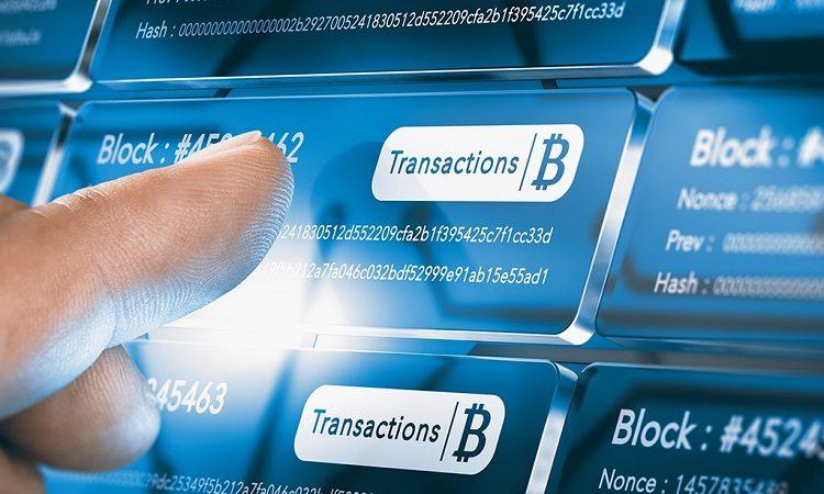 Объем биткоин-транзакций 2020