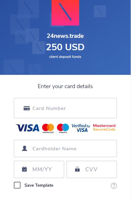 Сделать депозит 24NewsTrade